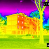 IR image of house and car.